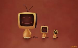 голова телевизор