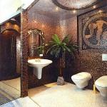 Мазаичная плитка в туалете